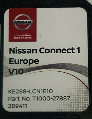 Nissan Connect 1 Sat Nav Lcn1 Latest Sd Card V9 2019 / 2020 Maps