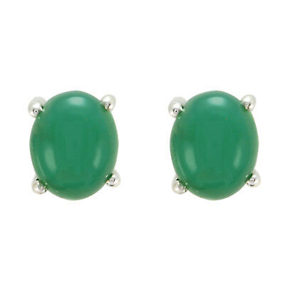 Delicate Green Onyx 925 Sterling Silver Green Earring Natural Supply Gift UK