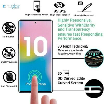 NUGLAS Tempered Glass Screen Protector Samsung Galaxy S10 9 8 Note 10 Plus 5G 9