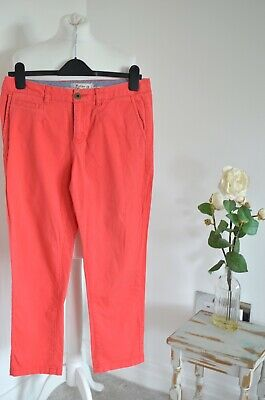 FAT FACE Pink chino casual trousers UK 10 L26, Cropped