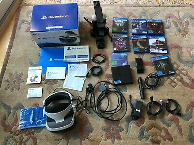 PS4 VR Komplett-Set (Headset, Kamera, 2 Move-Controller, Lade-Station, 7 Spiele)