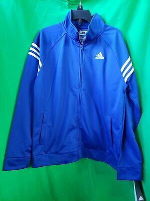 Adidas Boys 18-20 XL Long Sleeve Event Track Jacket Dark Royal Blue  NEW