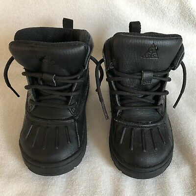 Nike Woodside 2 ACG Boots Waterproof Rubber High Top Black Toddler Size 8C *EUC*