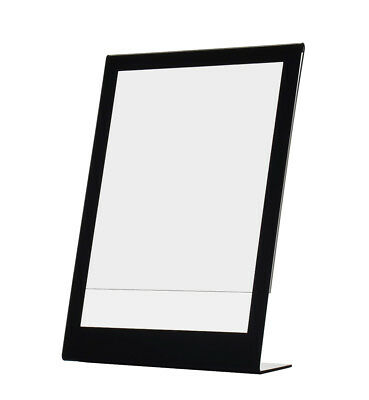 "8.5"" x 11"" Sign Holder with Black Border Ad Display Frame Slant Back Qty 24"