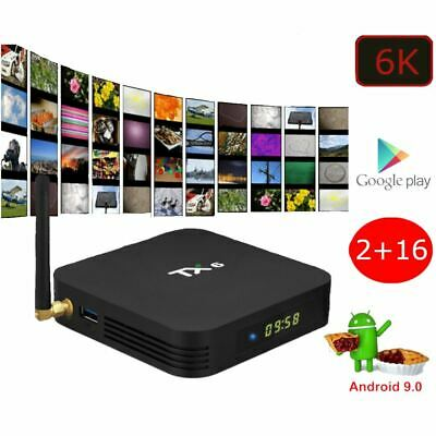 Android 9.0 PIE Smart TV Box Media TV Player USB HDMI WiF 6K TX6 H6 32GB