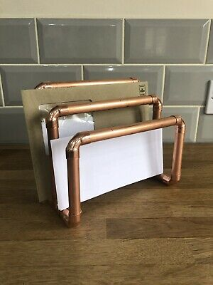 Industrial style copper pipe letter rack
