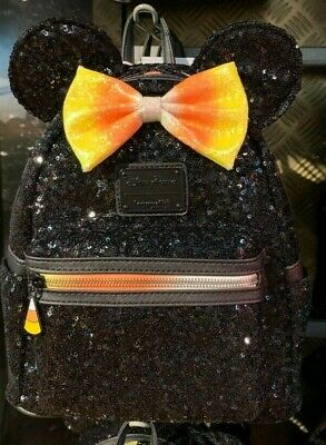 New w/ tags!  Disney Parks Candy Corn Mickey Pumpkin Loungefly Mini Backpack