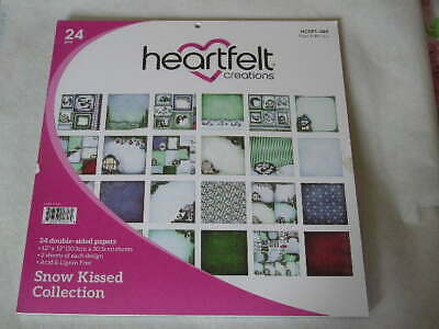 """Heartfelt Creations 12"""" x 12"""" D/S Papers - Snow Kissed Collection (21S) (B)"""