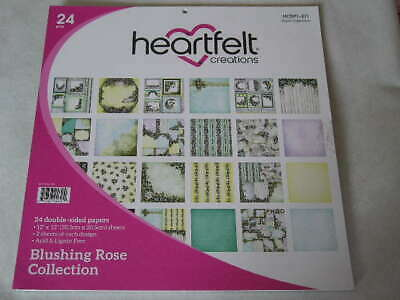 """Heartfelt Creations 12"""" x 12"""" D/S Papers - Blushing Rose Collection (23S) (B)"""