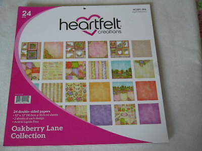 """Heartfelt Creations 12"""" x 12"""" D/S Papers - Oakberry Lane Collection (23S) (B)"""