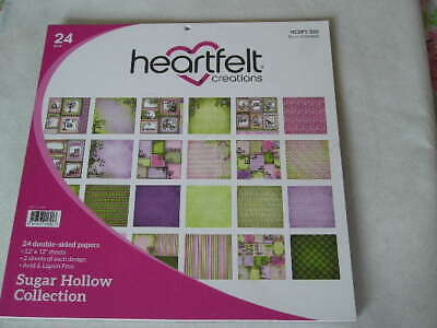 """Heartfelt Creations 12"""" x 12"""" D/S Papers - Sugar Hollow Collection (24S) (B)"""