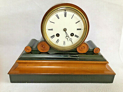 Antique 19th Century Japy Freres Walnut  Mantel Clock