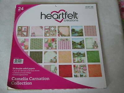 """Heartfelt Creations 12"""" x 12"""" D/S Papers - Camelia Carnation Collection (24S)(B)"""