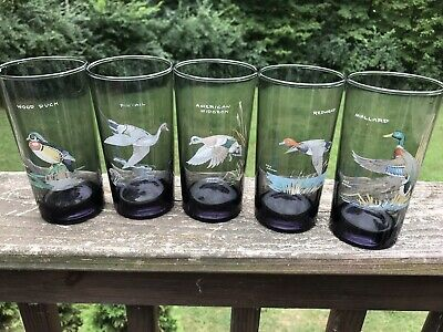Ned Smith Orvis Loop Highball Glasses Set of 5 Smoked Mid Century