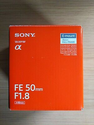Sony FE 50 mm F/1.8 FE for Sony - Black - Brand new