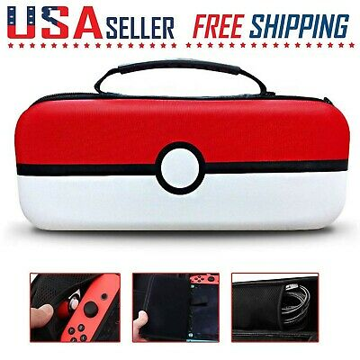 Nintendo Switch Pokemon Carrying Case Portable Travel Protective Hard Bag Guard