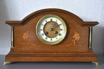 JAPY FRERES & Cie Antique Inlaid mantle clock.France.Running.Platform escapement