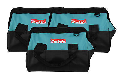 """Makita 14""""Tool bag with reinforced handles, interior and exterior pockets 3 Pack"""