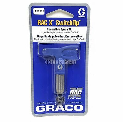 Graco Rac X SwitchTip LTX 419 Spray Tip Blue Size 419, NEW