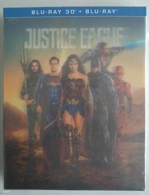 Manta Lab Exclusive ME#15 Justice League Steelbook Blu-Ray Double Lenticular NEW
