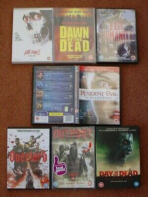 BUNDLE 12 ZOMBIE HORROR DVDs OVERLORD 2019 EVIL DEAD 2 RESIDENT EVIL x4 DAY DAWN