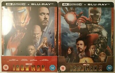 Iron Man 1+2 4K UHD Zavvi (UK) Limited Edition Steelbook Blu-Ray PRE ORDER!