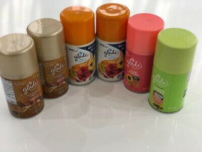 6 X Glade Automatic Spray Refill Air Freshener/Mixed/Limited Edition