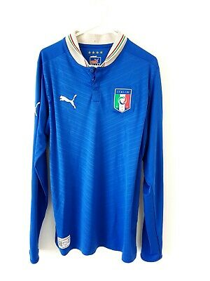 Italy Home Shirt 2012. Small Adults. Puma. Blue Long Sleeves Football Top Only S