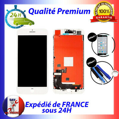 Vitre Tactile & Ecran Lcd Retina S/ Chassis Iphone 8 Blanc + Outils + Verre 24H