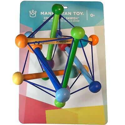 Manhattan Toy Skwish Color Burst Rattle and Teether Grasping Activity