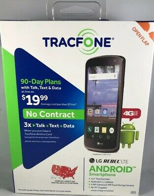 TRACFONE LG REBEL 4 4G LTE Prepaid Cell Phone with $40