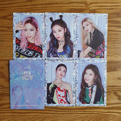 Itzy IT'Z ICY Pre Order Benefit Official Postcard Set Genuine Kpop