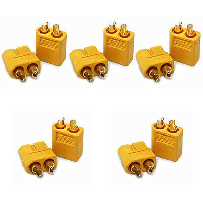 5Pairs XT60 Male & Female Bullet Connectors Plugs For RC LiPo Battery