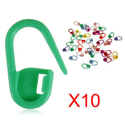 30pcs Knitting Crochet Locking Stitch Needle Clip Markers Holder Plastic Pins