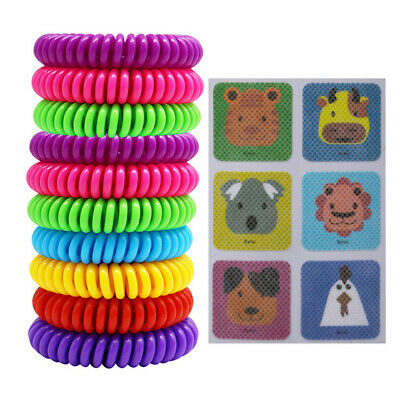 10 Pack Natural Mosquito Repellent Bracelet Set add 6 Pcs Mosquito Patches