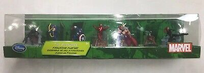Marvel Disney Store The Avengers Exclusive 7 Action Figurines Set Toy Iron Man