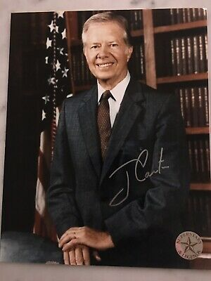 """JIMMY CARTER 39th US President Genuine Hand-Signed 8x10"""" Photo Collage COA"""