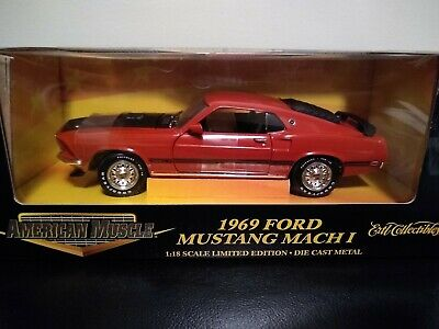 American Muscle 1969 Ford Mustang Mach 1 1/18Th Very Rare!