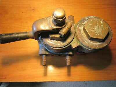 Genuine original 19th century No 4 Solid Brass Westinghouse Drivers  Brake Valve