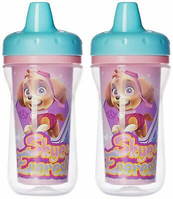 Paw Patrol 2 Pack Insulated Sippy Cups Spill Proof Toddler Baby Skye Pink NEW