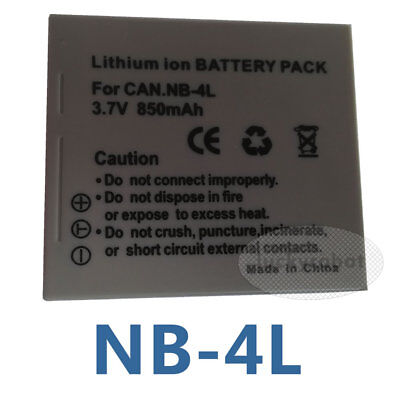 2xCamera Battery for Canon NB-4L NB4L IXUS 80 IS 30 40 50 55 60 65 70 75 UK FAST