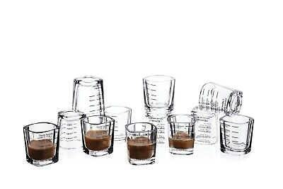 Espresso Shot Glass Set Measuring Cups Heavy Base glasses 2 Ounce / 60ML 12Pack