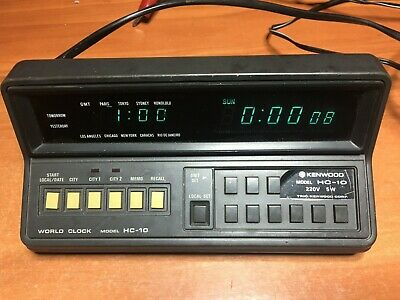 Classic Kenwood World Clock HC-10