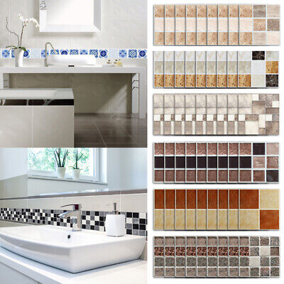 18Pcs Home Decor Wall Stickers Wallpaper Tile Stickers Simulation 3D Marble