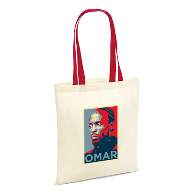 The TV Series Wire Omar Little Portrait Tote - Shopper Shopping Bag Gift Present