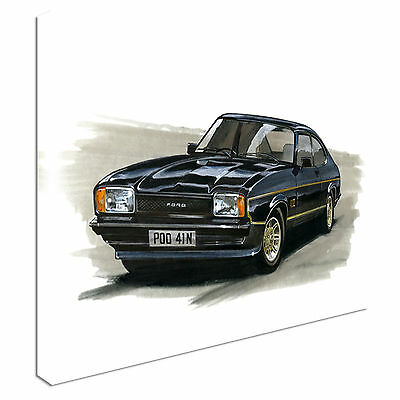 Ford Capri Mk2 2.0 JPS Canvas Wall Art Picture Print