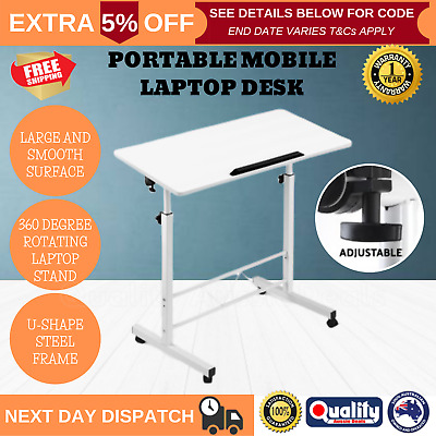 Foldable Laptop Table Sit Stand Desk Height Adjustable Study Office Table New
