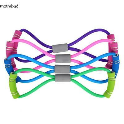 Stretch Band Rope Latex Rubber Arm Resistance Fitness Exercise Pilates Yoga Gym_