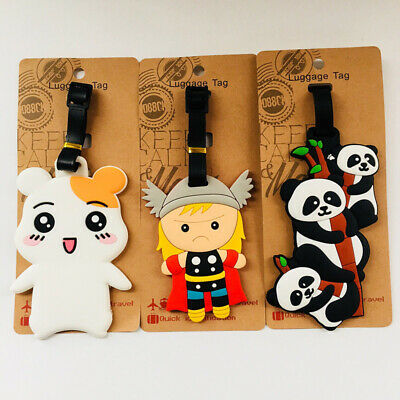 china panda dog Anime Luggage Tag PVC Travel Label boarding tags new