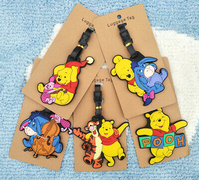 pooh bear eeyore tigger Anime Luggage Tag PVC Travel Label boarding tags new